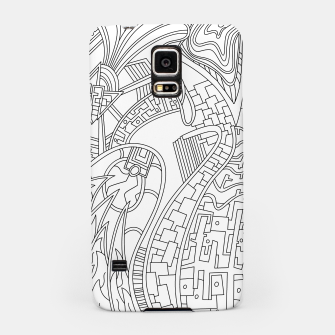 Thumbnail image of Wandering Abstract Line Art 42: Black & White Samsung Case, Live Heroes