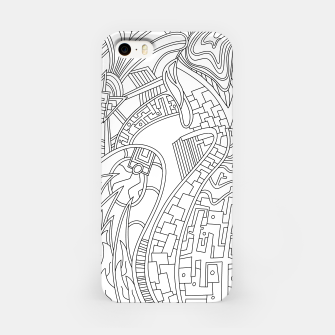 Thumbnail image of Wandering Abstract Line Art 42: Black & White iPhone Case, Live Heroes