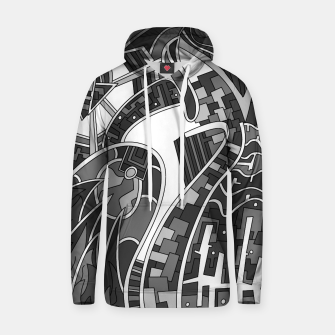 Thumbnail image of Wandering Abstract Line Art 42: Grayscale Hoodie, Live Heroes