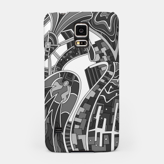 Thumbnail image of Wandering Abstract Line Art 42: Grayscale Samsung Case, Live Heroes