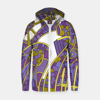 Thumbnail image of Wandering Abstract Line Art 42: Purple Zip up hoodie, Live Heroes