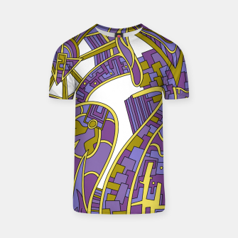 Thumbnail image of Wandering Abstract Line Art 42: Purple T-shirt, Live Heroes