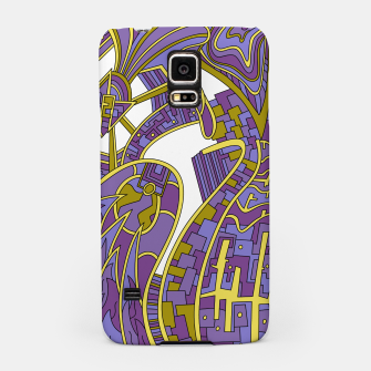Thumbnail image of Wandering Abstract Line Art 42: Purple Samsung Case, Live Heroes