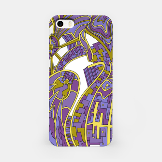 Thumbnail image of Wandering Abstract Line Art 42: Purple iPhone Case, Live Heroes