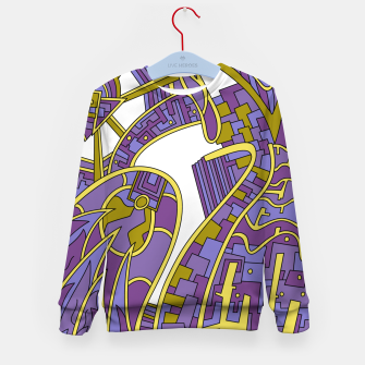Thumbnail image of Wandering Abstract Line Art 42: Purple Kid's sweater, Live Heroes
