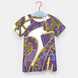 Thumbnail image of Wandering Abstract Line Art 42: Purple Kid's t-shirt, Live Heroes