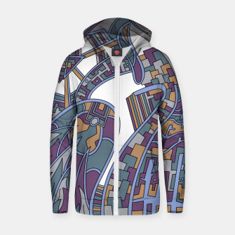 Thumbnail image of Wandering Abstract Line Art 42: Blue Zip up hoodie, Live Heroes