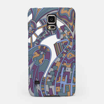 Thumbnail image of Wandering Abstract Line Art 42: Blue Samsung Case, Live Heroes
