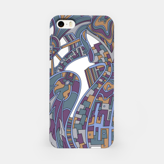 Thumbnail image of Wandering Abstract Line Art 42: Blue iPhone Case, Live Heroes