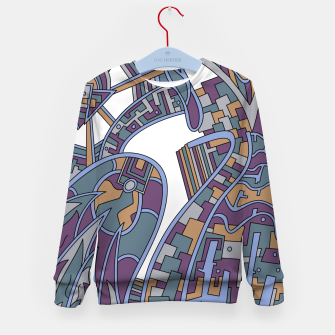 Thumbnail image of Wandering Abstract Line Art 42: Blue Kid's sweater, Live Heroes