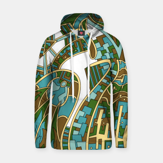 Thumbnail image of Wandering Abstract Line Art 42: Green Hoodie, Live Heroes