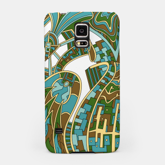 Thumbnail image of Wandering Abstract Line Art 42: Green Samsung Case, Live Heroes