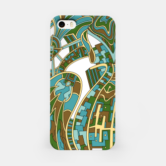 Thumbnail image of Wandering Abstract Line Art 42: Green iPhone Case, Live Heroes