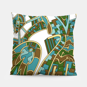 Thumbnail image of Wandering Abstract Line Art 42: Green Pillow, Live Heroes