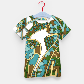 Thumbnail image of Wandering Abstract Line Art 42: Green Kid's t-shirt, Live Heroes