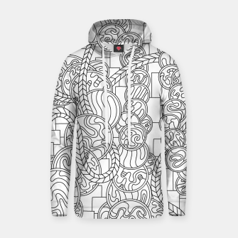 Thumbnail image of Wandering Abstract Line Art 43: Black & White Hoodie, Live Heroes