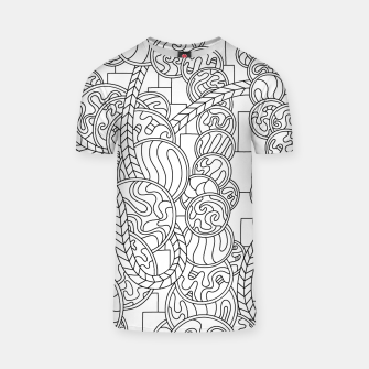 Thumbnail image of Wandering Abstract Line Art 43: Black & White T-shirt, Live Heroes