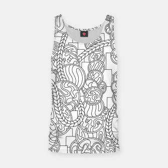 Thumbnail image of Wandering Abstract Line Art 43: Black & White Tank Top, Live Heroes
