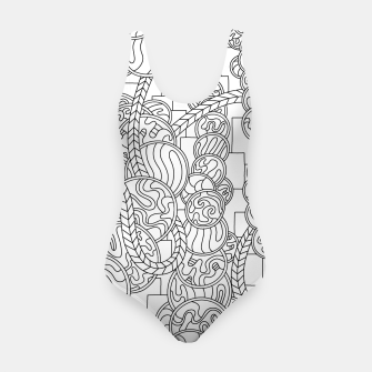 Thumbnail image of Wandering Abstract Line Art 43: Black & White Swimsuit, Live Heroes