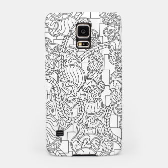 Thumbnail image of Wandering Abstract Line Art 43: Black & White Samsung Case, Live Heroes