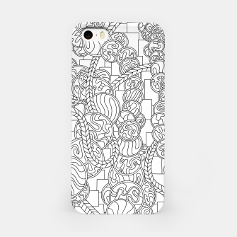 Thumbnail image of Wandering Abstract Line Art 43: Black & White iPhone Case, Live Heroes