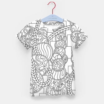 Thumbnail image of Wandering Abstract Line Art 43: Black & White Kid's t-shirt, Live Heroes