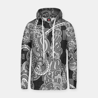 Thumbnail image of Wandering Abstract Line Art 43: Grayscale Hoodie, Live Heroes