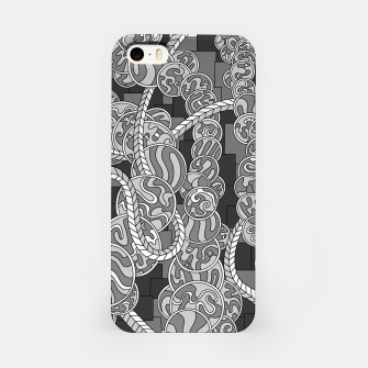Thumbnail image of Wandering Abstract Line Art 43: Grayscale iPhone Case, Live Heroes