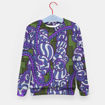 Thumbnail image of Wandering Abstract Line Art 43: Purple Kid's sweater, Live Heroes