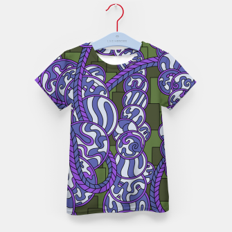 Thumbnail image of Wandering Abstract Line Art 43: Purple Kid's t-shirt, Live Heroes