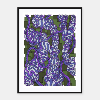 Thumbnail image of Wandering Abstract Line Art 43: Purple Framed poster, Live Heroes