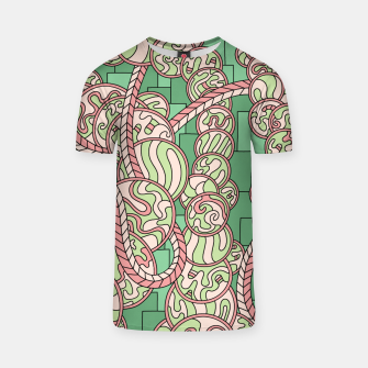 Thumbnail image of Wandering Abstract Line Art 43: Green T-shirt, Live Heroes