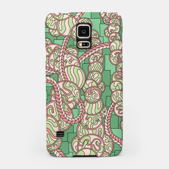 Thumbnail image of Wandering Abstract Line Art 43: Green Samsung Case, Live Heroes