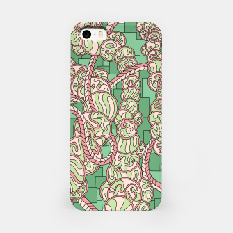 Thumbnail image of Wandering Abstract Line Art 43: Green iPhone Case, Live Heroes