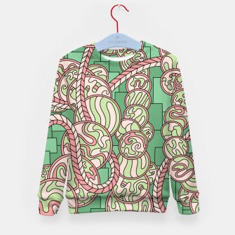 Thumbnail image of Wandering Abstract Line Art 43: Green Kid's sweater, Live Heroes