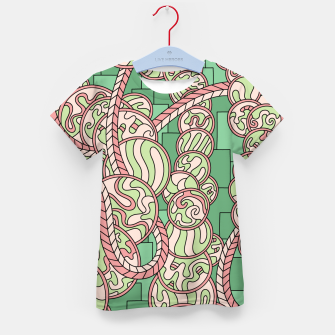 Thumbnail image of Wandering Abstract Line Art 43: Green Kid's t-shirt, Live Heroes
