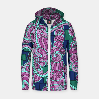 Thumbnail image of Wandering Abstract Line Art 43: Pink Zip up hoodie, Live Heroes