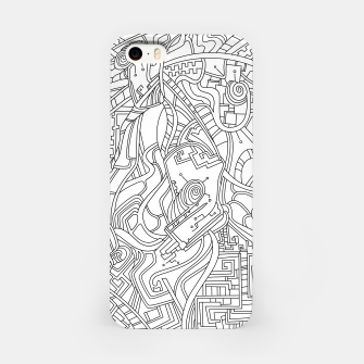 Thumbnail image of Wandering Abstract Line Art 44: Black & White iPhone Case, Live Heroes
