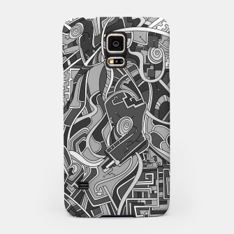 Thumbnail image of Wandering Abstract Line Art 44: Grayscale Samsung Case, Live Heroes