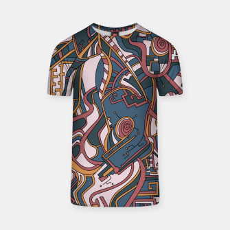 Thumbnail image of Wandering Abstract Line Art 44: Orange T-shirt, Live Heroes