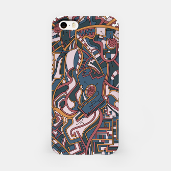 Thumbnail image of Wandering Abstract Line Art 44: Orange iPhone Case, Live Heroes