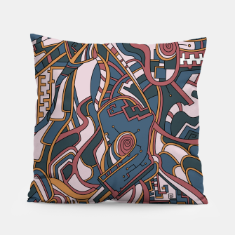 Thumbnail image of Wandering Abstract Line Art 44: Orange Pillow, Live Heroes
