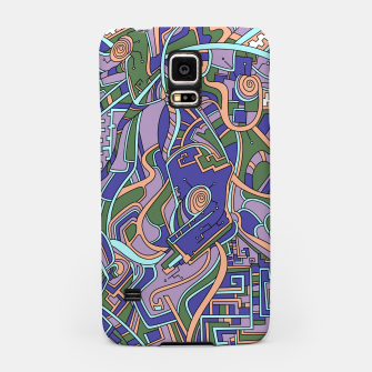 Thumbnail image of Wandering Abstract Line Art 44: Purple Samsung Case, Live Heroes