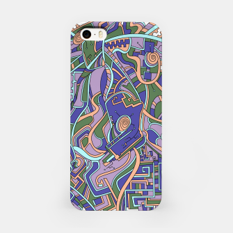 Thumbnail image of Wandering Abstract Line Art 44: Purple iPhone Case, Live Heroes