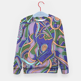 Thumbnail image of Wandering Abstract Line Art 44: Purple Kid's sweater, Live Heroes