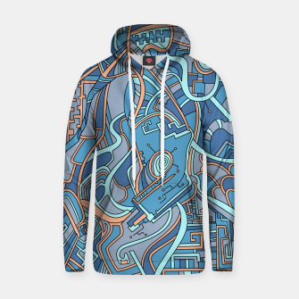 Thumbnail image of Wandering Abstract Line Art 44: Blue Hoodie, Live Heroes