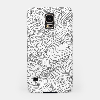Thumbnail image of Wandering Abstract Line Art 45: Black & White Samsung Case, Live Heroes