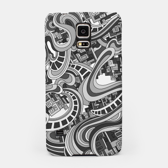 Thumbnail image of Wandering Abstract Line Art 45: Grayscale Samsung Case, Live Heroes