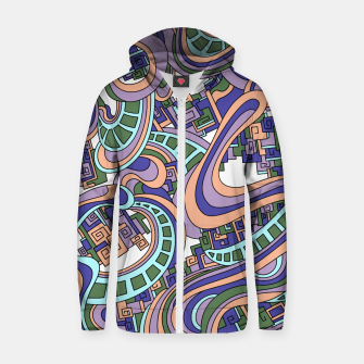 Thumbnail image of Wandering Abstract Line Art 45: Purple Zip up hoodie, Live Heroes