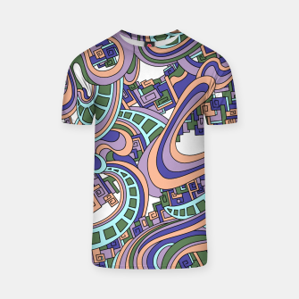 Thumbnail image of Wandering Abstract Line Art 45: Purple T-shirt, Live Heroes